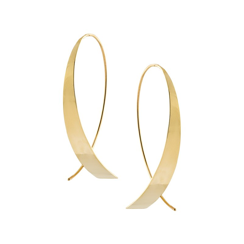 Lana Jewelry Small Glam Upside Down Hoops