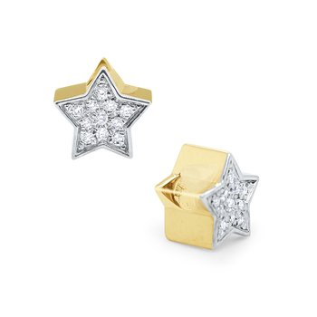 14k Gold and Diamond Star Rondell