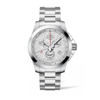 Longines Conquest Chronograph Silver Dial