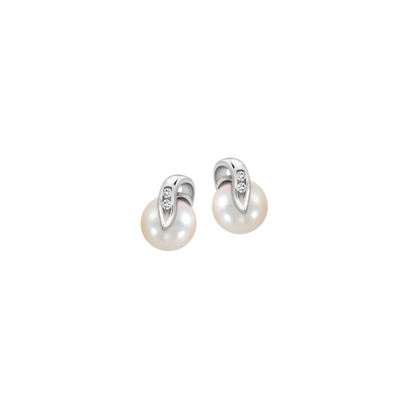 Diamond Wishes Pearls Earrings