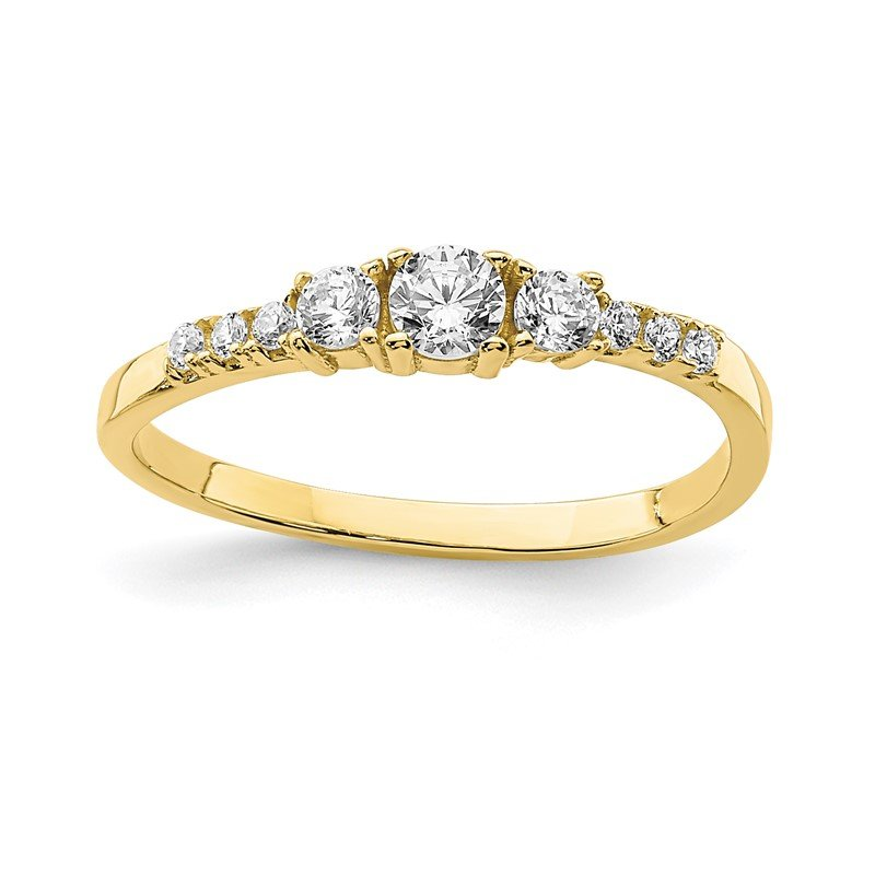 Quality Gold 10K CZ Fancy Child's Ring