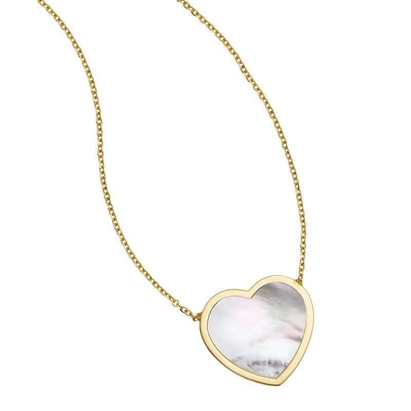 Royal Chain 14K Gold Mother of Pearl Heart Necklace