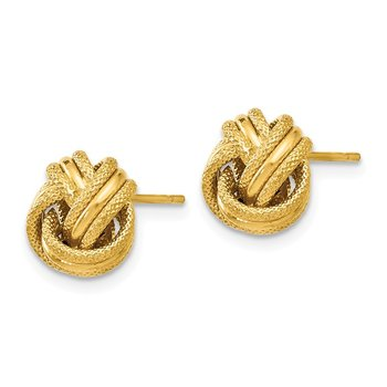 Leslie's 14K Knot Polished D/C Post Earrings