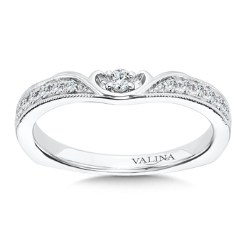 Diamond and 14K White Gold Wedding Band (0.16 ct. tw.)