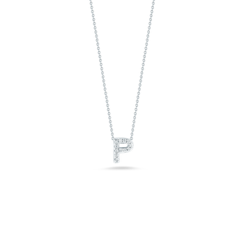 18Kt Gold Love Letter P Pendant With Diamonds