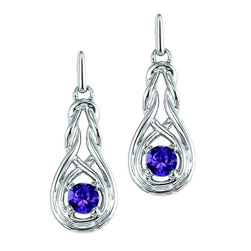 Mixables Silver Amethyst Earrings (Available In all BirthStones)