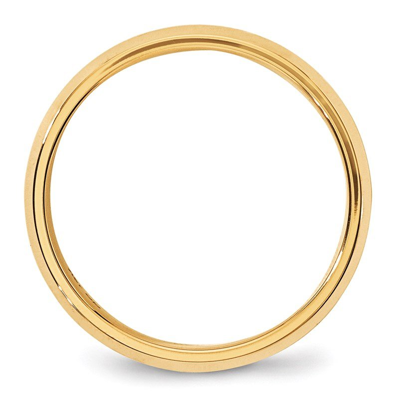 Quality Gold 14KY 6mm Bevel Edge Comfort Fit Band Size 10