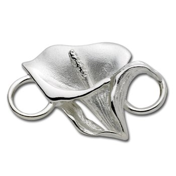 Sterling Silver Calla Lilly Flower Clasp