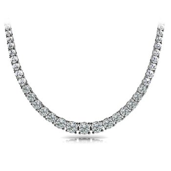 White Gold Four Prong Diamond Necklance