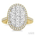 ASHI oval shape lovebright essential diamond ring