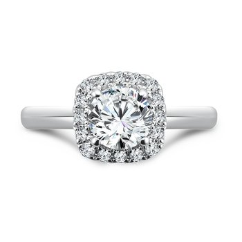 Classic Elegance Collection Halo Engagement Ring in 14K White Gold (1ct. tw.)
