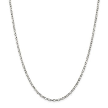 Sterling Silver 3mm Fancy Patterned Rolo Chain