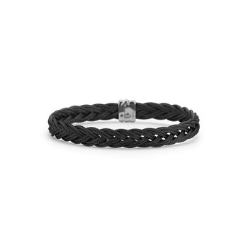 Black Braided Cable Bracelet