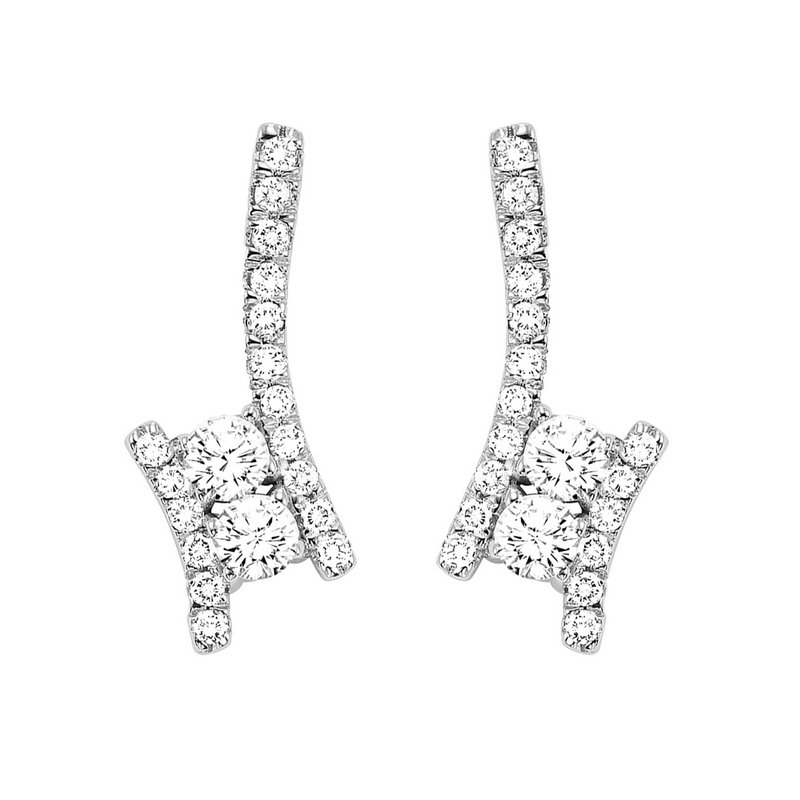 Gems One Twogether Diamond Drop Earrings in 14K White Gold (1 ct. tw.)