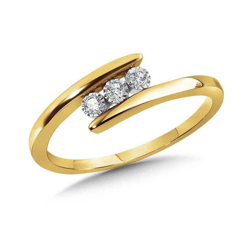 SDC Creations 3-Stone Bypass Promise Ring