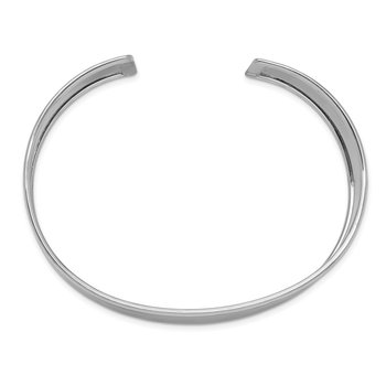 14k White Gold 18.5mm Polished Cuff Bangle