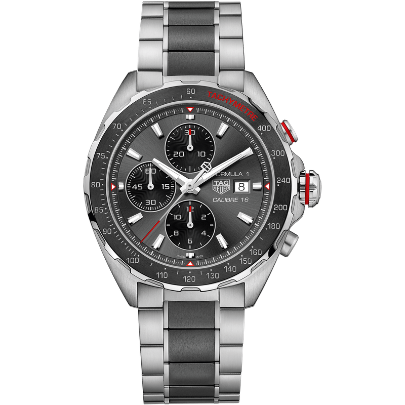 Tag Heuer - USD Formula 1 Calibre 16 Automatic Steel and Ceramic Chronograph
