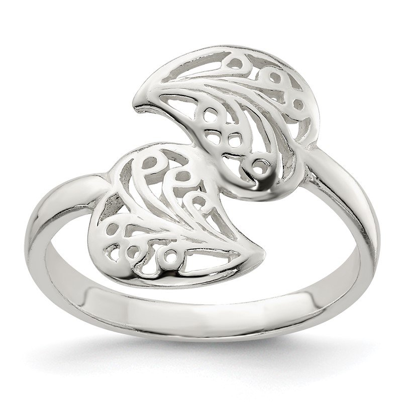 Quality Gold Sterling Silver Polished Filigree Ring
