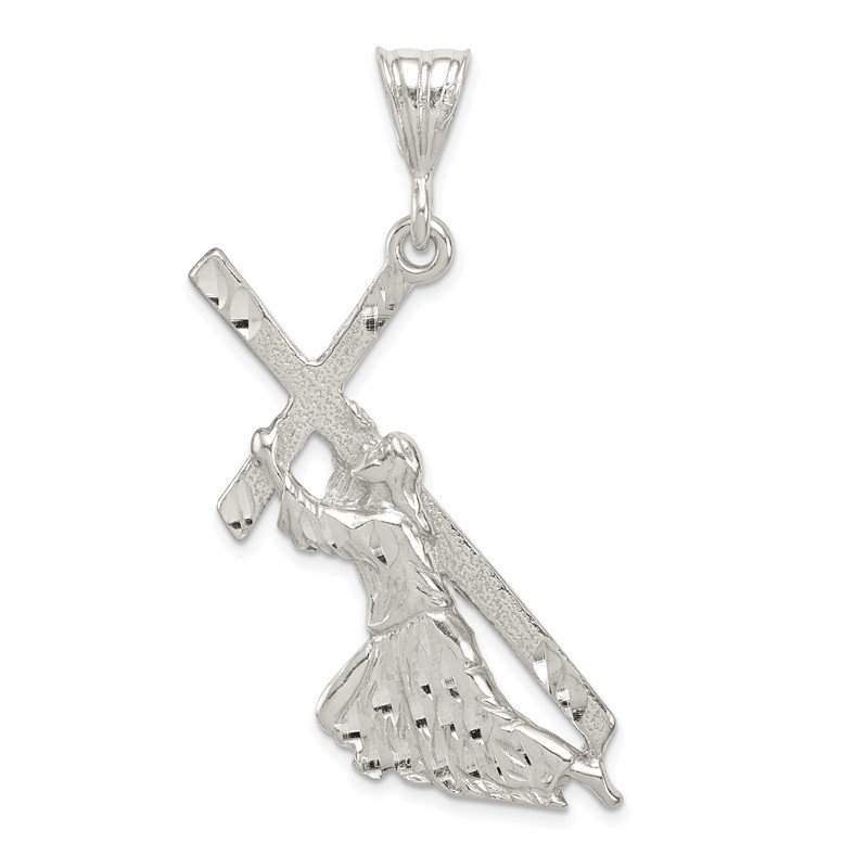 Quality Gold Sterling Silver St. Andrew Cross Pendant
