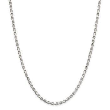 Sterling Silver 3.5mm Diamond-cut Rolo Chain