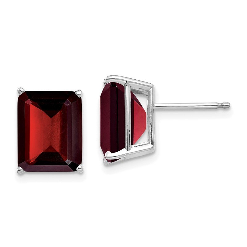 Arizona Diamond Center Collection 14k Emerald Cut Garnet Stud Earrings