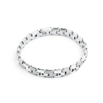 316L stainless steel and jet Swarovski® Elements crystals.