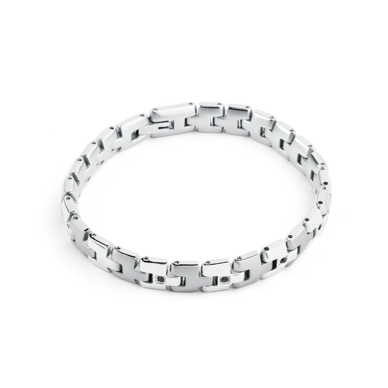 Brosway 316L stainless steel and jet Swarovski® Elements crystals.