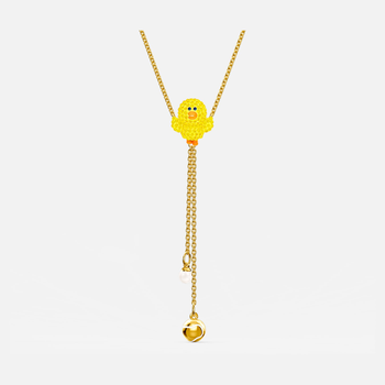 Line Friends Tennis Y Necklace, Yellow, Gold-tone plated