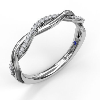 Narrow Twist 1/2 Diamond Band
