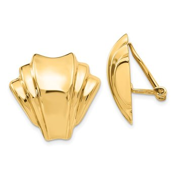 14k Omega Clip Polished Non-pierced Earrings