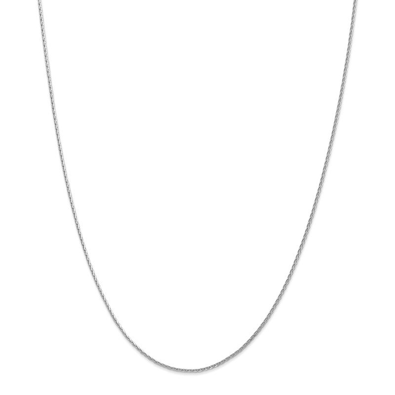 Leslie's Leslie's 14K White Gold 1.3mm D/C Spiga (Wheat) Chain