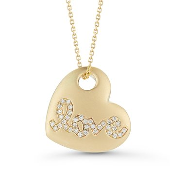 Beautiful Diamond Love Heart Pendant TW 0.10C  in 14K Gold