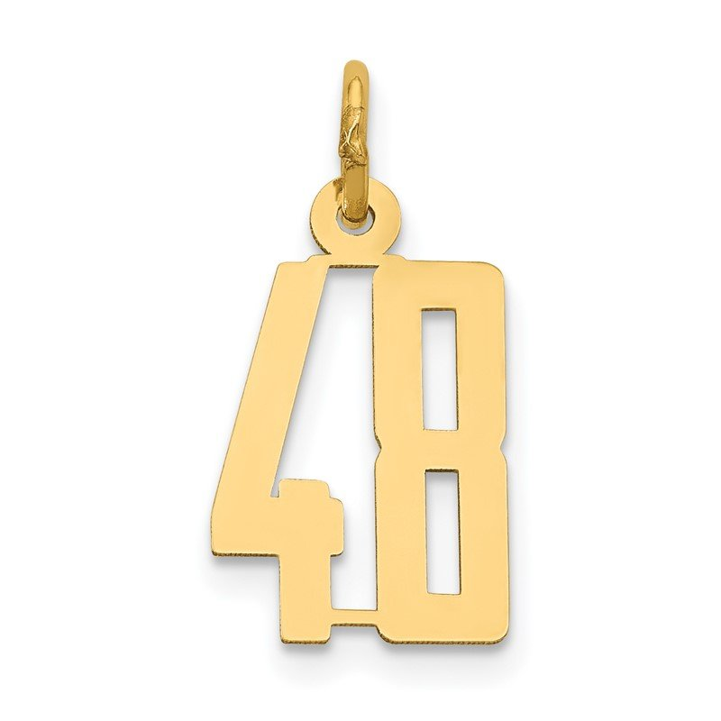 Quality Gold 14k Small Polished Elongated 48 Charm