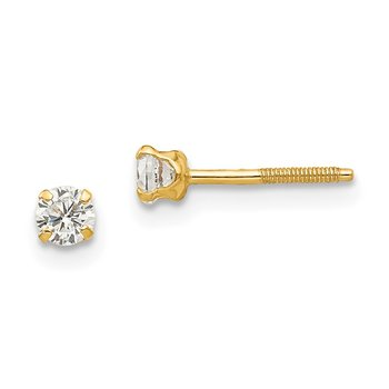 14k Madi K 3mm white zircon Earrings