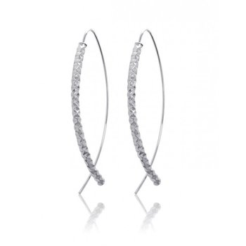 Curved Diamond Cut Earrings