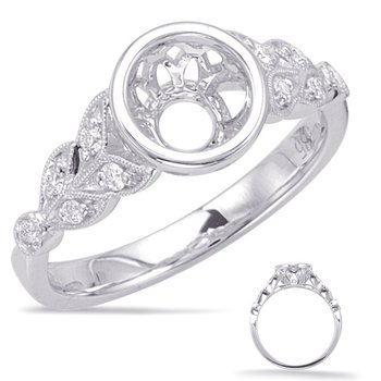 White Gold Engagement Ring Bezel Head