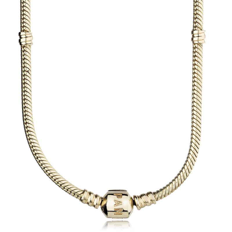 PANDORA 14K Gold Charm Necklace