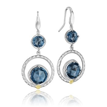 Gem Ripple Earrings featuring London Blue Topaz