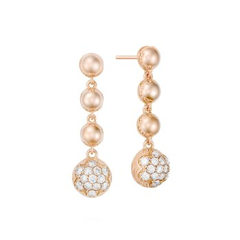 Cascading Drop Earrings featuring Pavé Diamonds