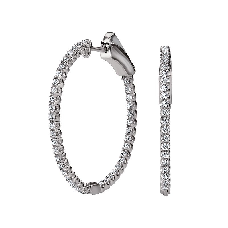 Tesoro Ladies Diamond Hoops
