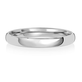 9Ct White Gold 2.5mm Slight Court Wedding Ring