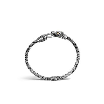 Legends Naga 5MM Station Bracelet in Silver and 18K Gold