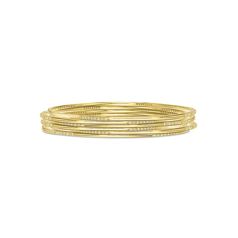 KC Designs Diamond Slip-On Bangle in 14k Yellow Gold with 32 Diamonds weighing .31ct tw.