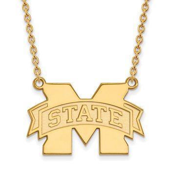 Gold Mississippi State University NCAA Necklace