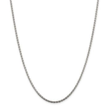 Sterling Silver 2mm Diamond-cut Spiga Chain