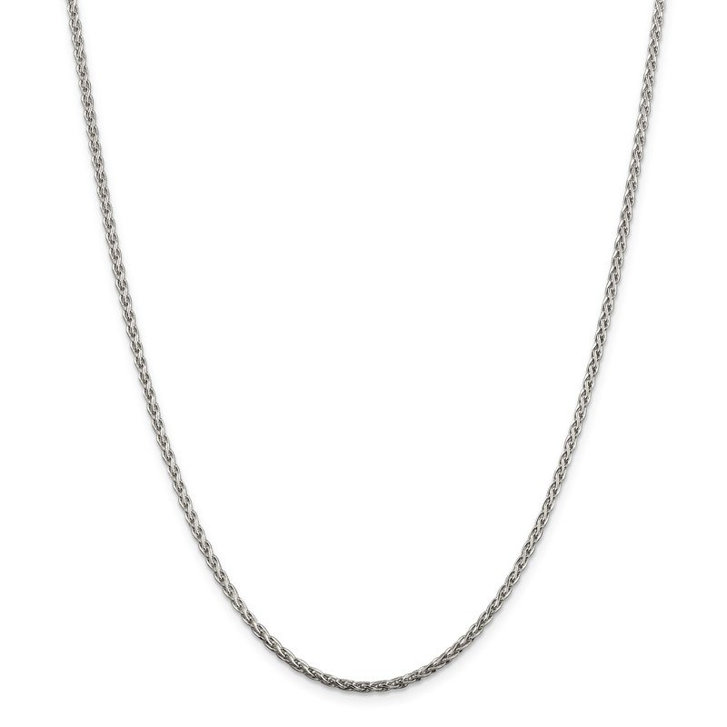 Quality Gold Sterling Silver 2mm Diamond-cut Spiga Chain