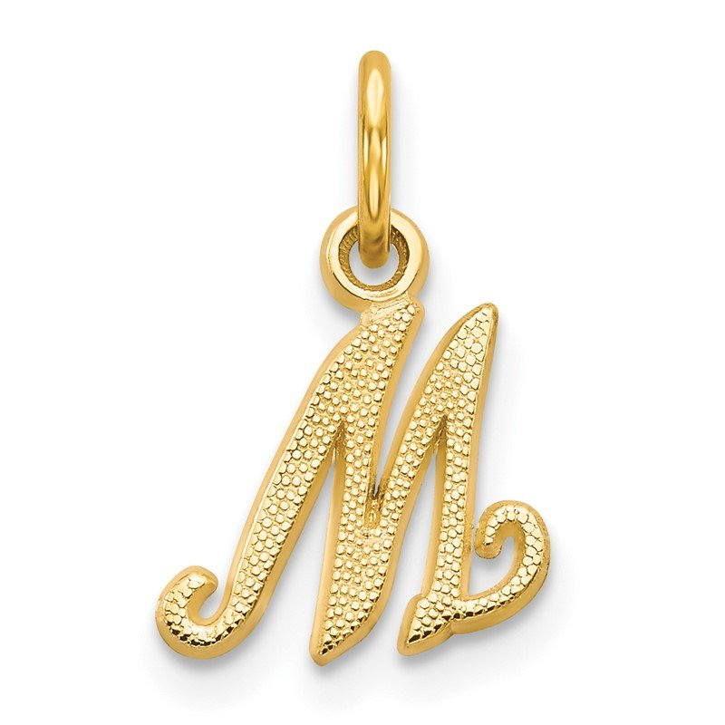 Quality Gold 14KY Script Letter M Initial Charm