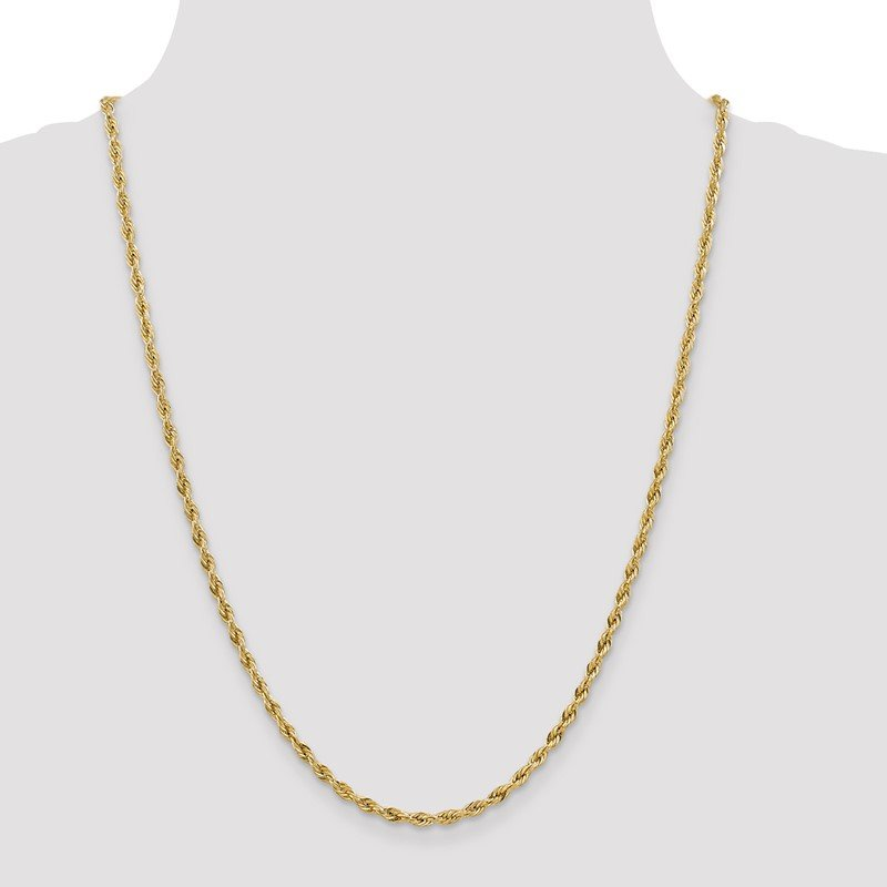 Quality Gold 14ky 3.0mm Semi-Solid Rope Chain