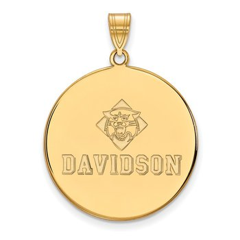 Gold-Plated Sterling Silver Davidson College NCAA Pendant