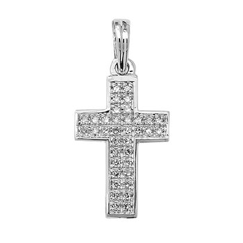 Diamond Cross Pave Set W/G